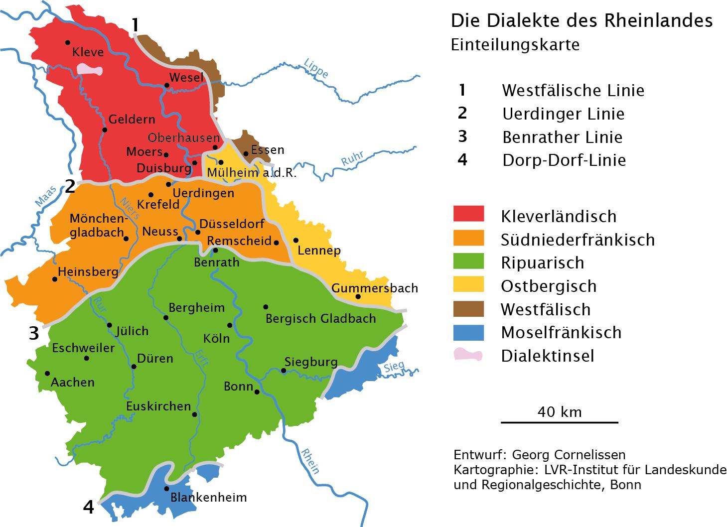 Dialekte im Rheinland - Institut für Landeskunde und ...